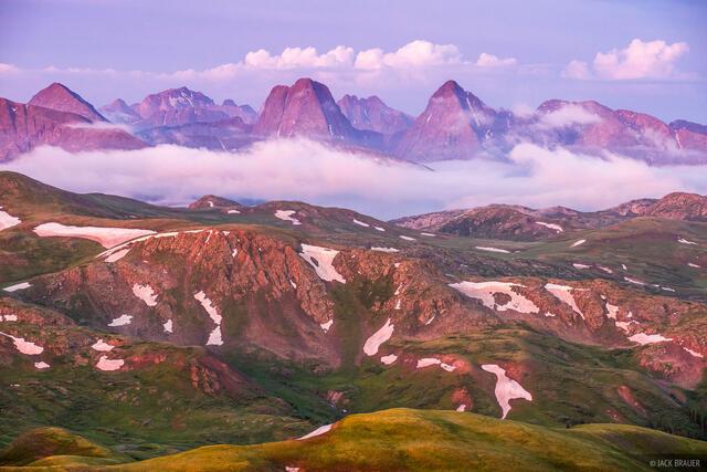 Colorado,Grenadier Range,San Juan Mountains,Stony Pass,Weminuche Wilderness, Vestal Peak, Arrow Peak