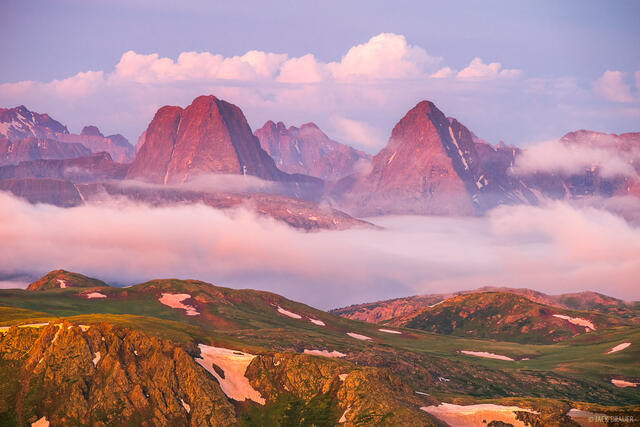 Colorado,Grenadier Range,San Juan Mountains,Weminuche Wilderness, Vestal Peak, Arrow Peak