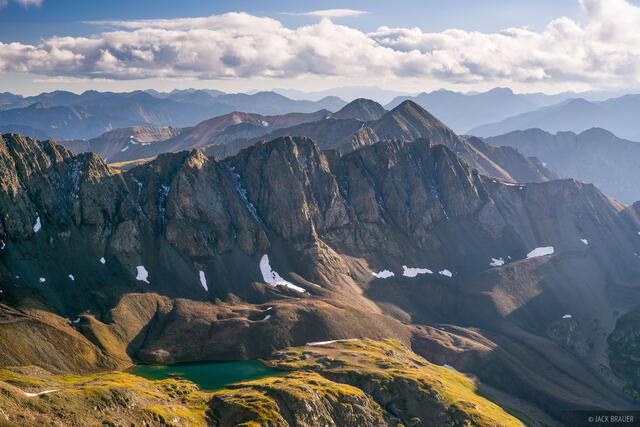 14er,Colorado,Handies Peak,San Juan Mountains, Sloan Lake, Jones Mountain, Niagara Peak, La Plata Mountains