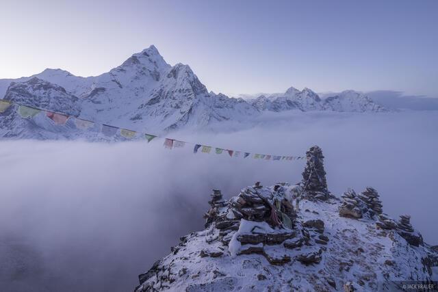 Ama Dablam,Himalaya,Khumbu,Nepal,prayer flags, Dingboche