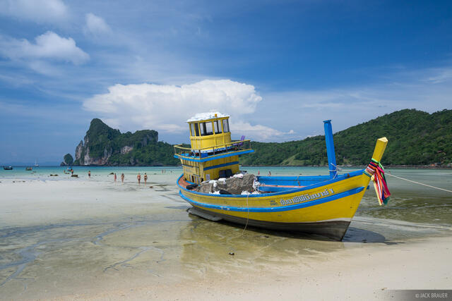 Ko Phi-Phi, Thailand, Andaman Sea, boat, beach