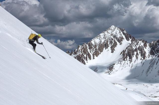 Colorado, San Juan Mountains, Sneffels Range, skiing, Yankee Boy Basin