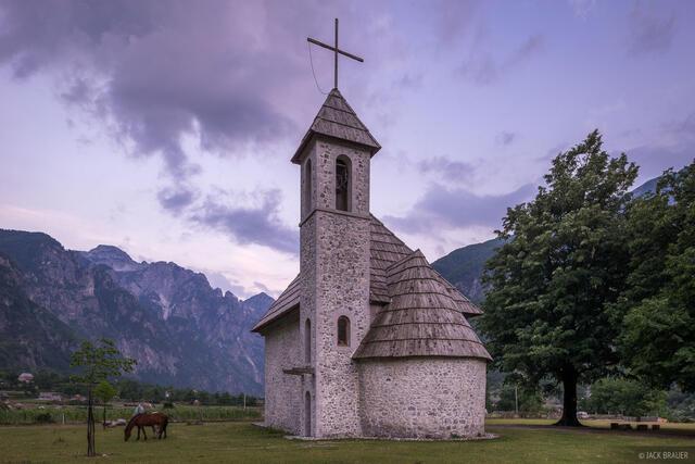 Albania,Bjeshkët e Namuna, Prokletije,Thethi,church