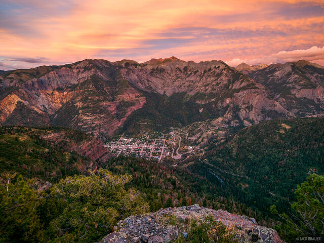 Colorado,Ouray,San Juan Mountains, sunset