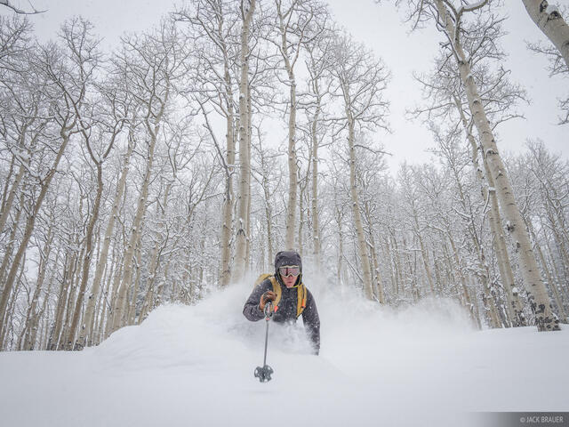 Colorado,San Juan Mountains,skiing, aspens, powder, January, Don Moden