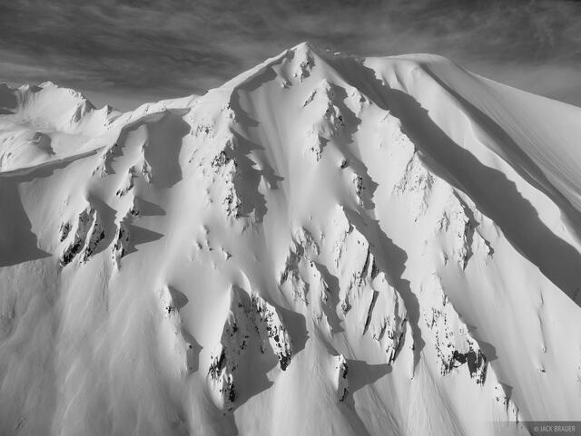 Alaska, Haines, bw, Takhinsha Mountains
