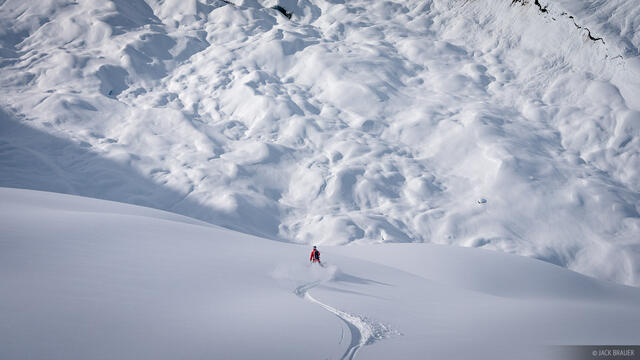 Skiing to Glacier
