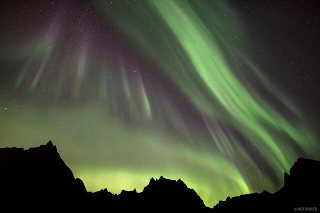 Canada, Grizzly Lake, Tombstone Territorial Park, Yukon, aurora