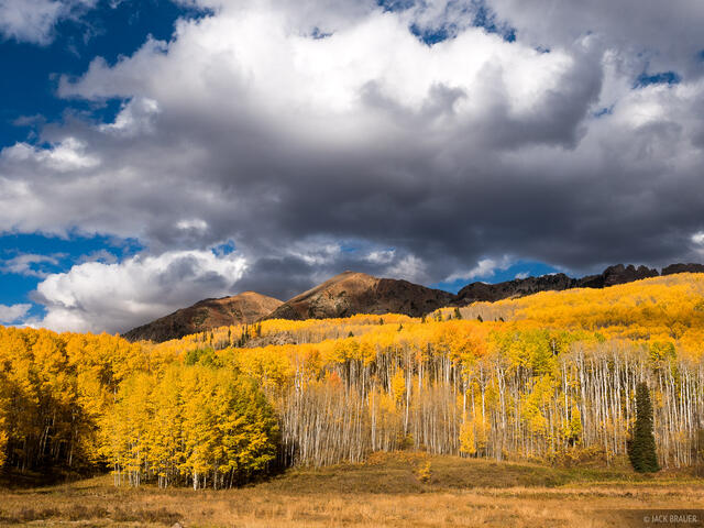 Colorado, Elk Mountains, Kebler Pass, October, aspens, autumn, fall