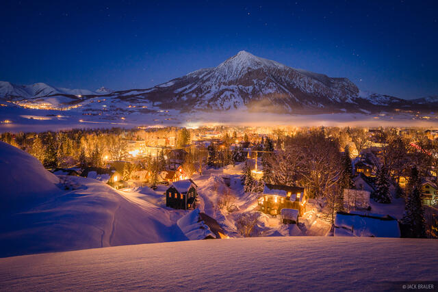 Colorado, Crested Butte, winter, January