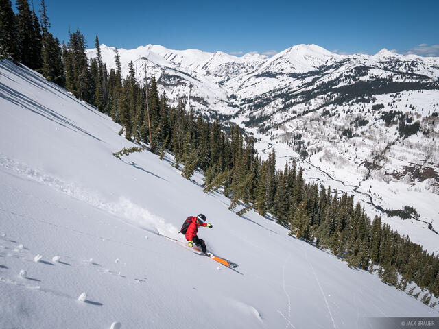 Colorado, Crested Butte, Slate River, skiing, April