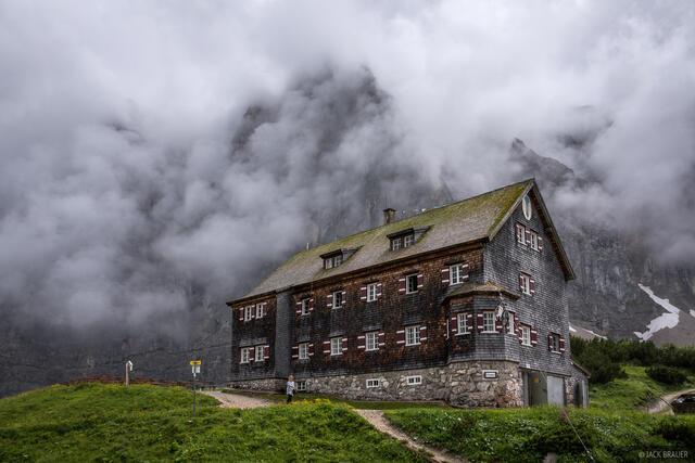 Austria, Falkenhütte, Karwendel, Alps, Laliderer Spitze, hut