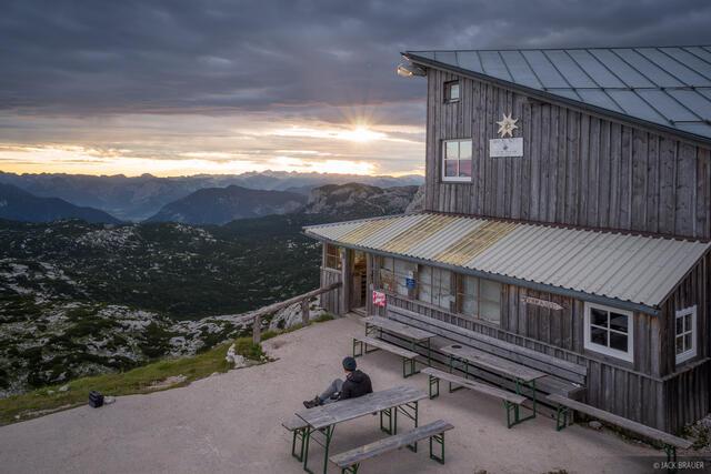 Austria, Dachstein, Simony Hütte, hut