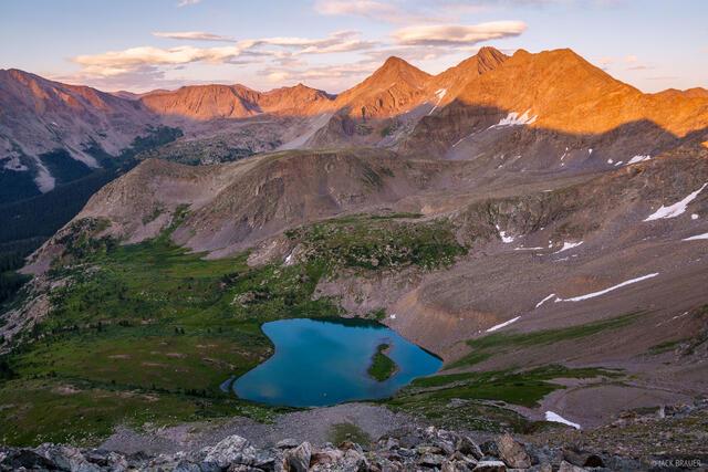 Collegiate Peaks Wilderness, Colorado, Ice Mountain, Lake Ann, Sawatch Range, The Three Apostles