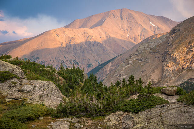 Colorado, Mount Elbert, Mount Massive Wilderness, North Halfmoon Lakes, Sawatch Range, 14er
