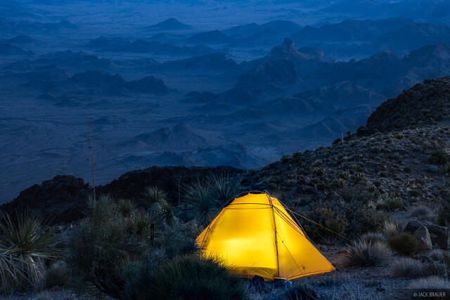Arizona, Kofa National Wildlife Refuge, Signal Peak, tent, Kofa Mountains