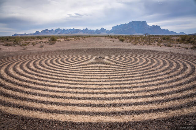 Arizona, Kofa National Wildlife Refuge, Signal Peak, Spiral Labyrinth, Kofa Mountains