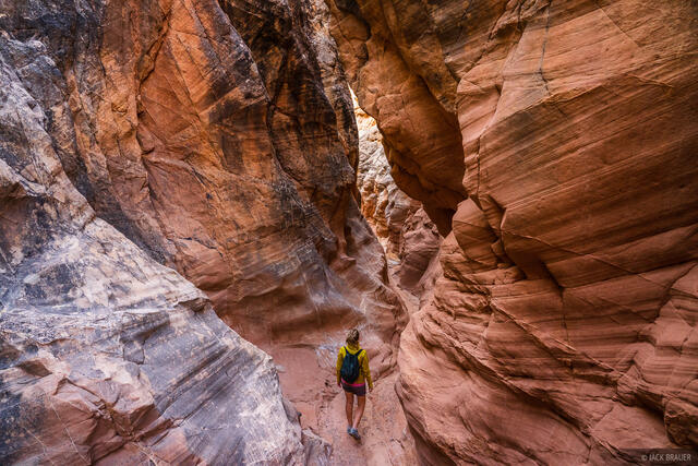 Grand Staircase - Escalante National Monument, Upper Cottonwood Wash Narrows, Utah, hiking