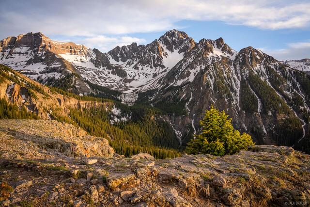 Colorado, San Juan Mountains, Sneffels Range, Blain Basin, Cirque Mountain, 14er