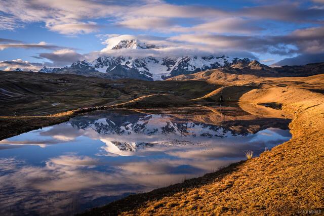 Ausangate, Cordillera Vilcanota, Peru, South America, Upis, sunrise