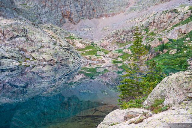 Colorado, Needle Mountains, San Juan Mountains, Weminuche Wilderness, reflection