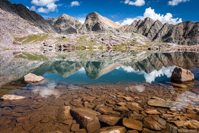 Colorado, Grenadier Range, San Juan Mountains, Trinity Peaks, Weminuche Wilderness, reflection