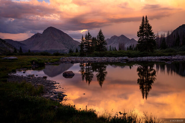 Colorado, Mount Nebo, San Juan Mountains, Weminuche Wilderness, reflection, sunset