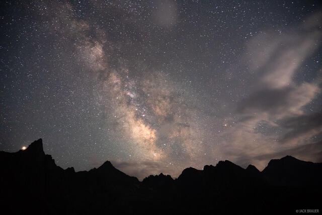 Colorado, Knife Point, Milky Way, Needle Mountains, San Juan Mountains, Sunlight Peak, Weminuche Wilderness, stars, Mars