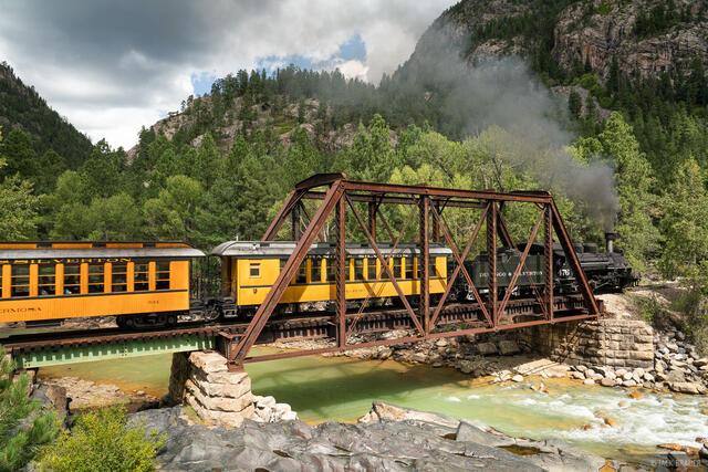Animas River, Colorado, Needle Mountains, San Juan Mountains, Weminuche Wilderness, train