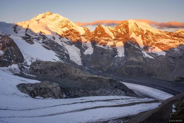 Bernina Range, Diavolezza, Piz Bernina, Piz Morteratsch, Rhaetian Alps, Switzerland