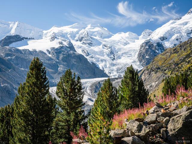 Bernina Range, Piz Zupo, Rhaetian Alps, Switzerland, Vadret da Morteratsch, Alps