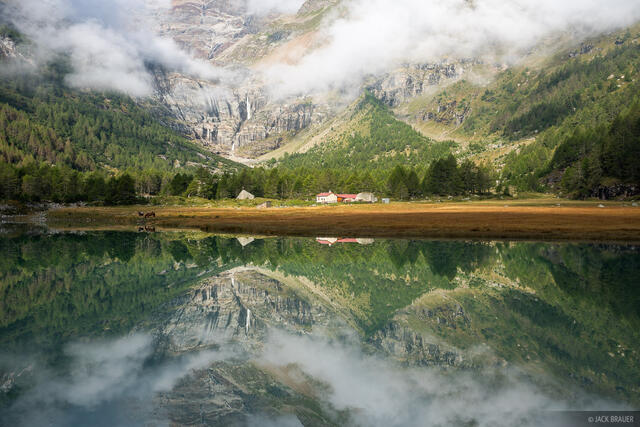 Alpe Palü, Bernina Range, Rhaetian Alps, Switzerland, reflection