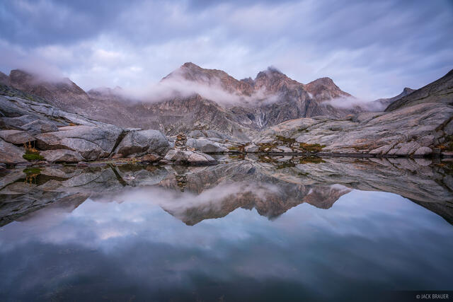 Bernina Range, Cima dal Largh, Piz Bacun, Piz Casnil, Rhaetian Alps, Switzerland, reflection, Alps