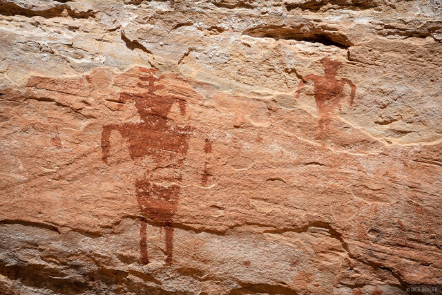 Bears Ears National Monument, Cedar Mesa, Slickhorn Canyon, pictographs