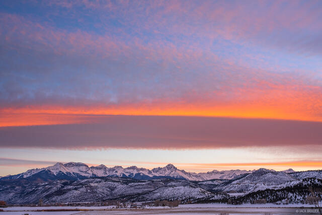 Colorado, Mount Sneffels, San Juan Mountains, Sneffels Range, Ridgway, sunset