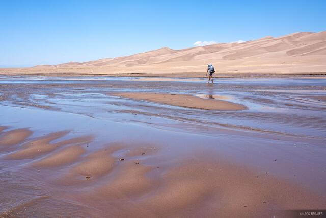 Colorado, Great Sand Dunes, hiking, Medano Creek, ponderosa pine