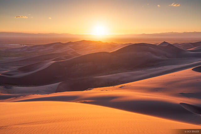 Colorado, Great Sand Dunes, sunset, San Luis Valley