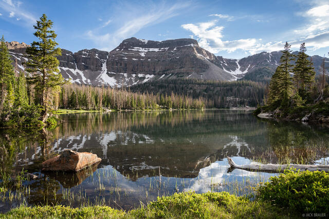 Bear River, Hayden Peak, High Uintas Wilderness, Kermsuh Lake, Stillwater Fork, Uintas, Utah, West Basin