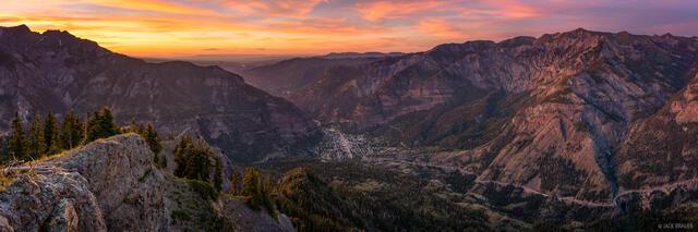 Ouray Sunset Panorama