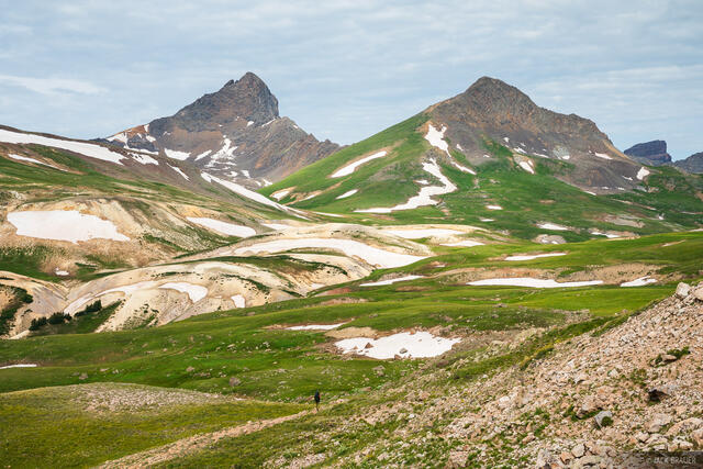 Colorado, Matterhorn Peak, San Juan Mountains, Uncompahgre Wilderness, Wetterhorn Peak