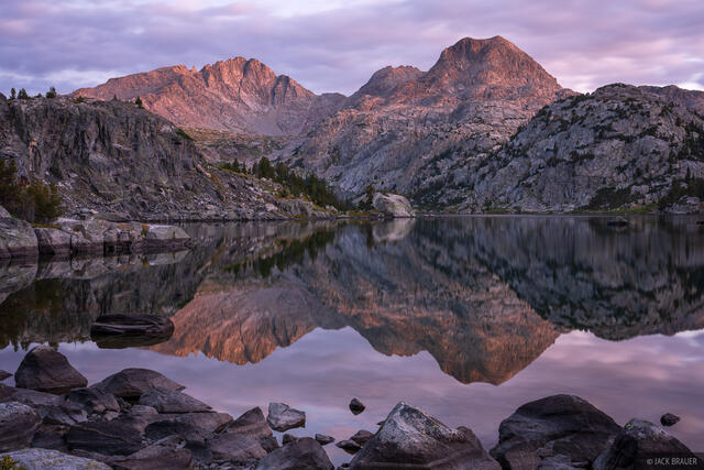 Bridger Wilderness, Cook Lakes, Mount Lester, Wind River Range, Wyoming