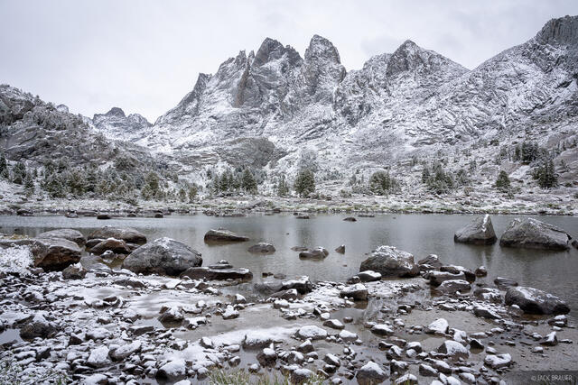 Bonneville Lakes, Bridger Wilderness, Mount Bonneville, Wind River Range, Wyoming
