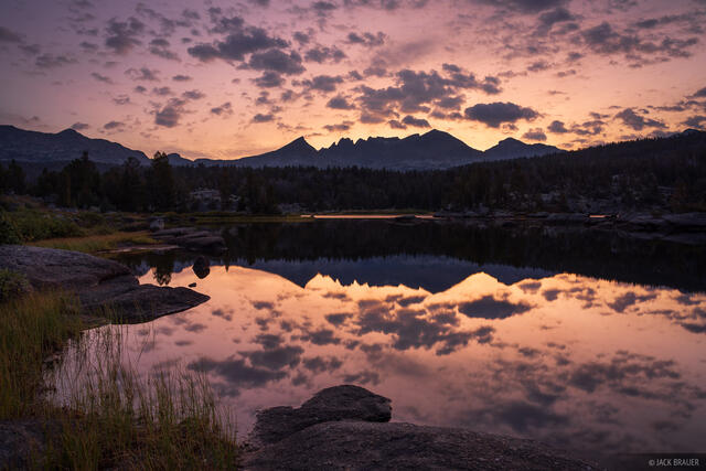 Bridger Wilderness, Dads Lake, Wind River Range, Wyoming