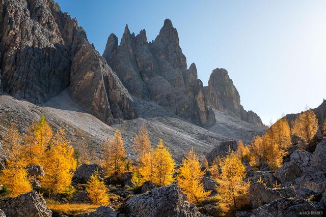 Croda da Lago, Dolomites, Italy, larch, October, Alps
