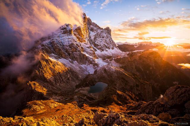 Dolomites, Italy, Monte Civetta, November, Alps