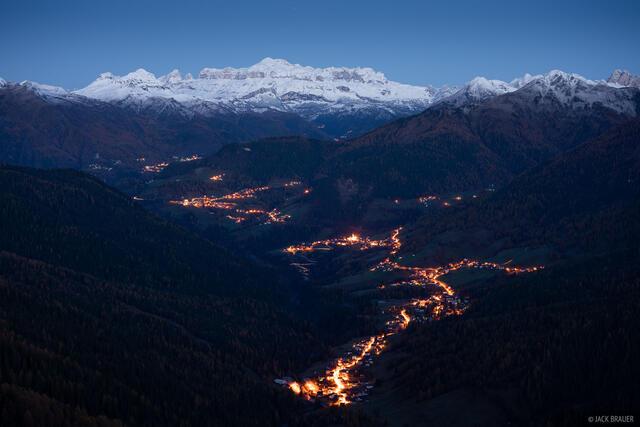 Dolomites, Gruppo del Sella, Italy, Selva di Cadore, November, Alps