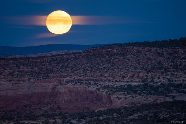 Colorado, moon, moonset