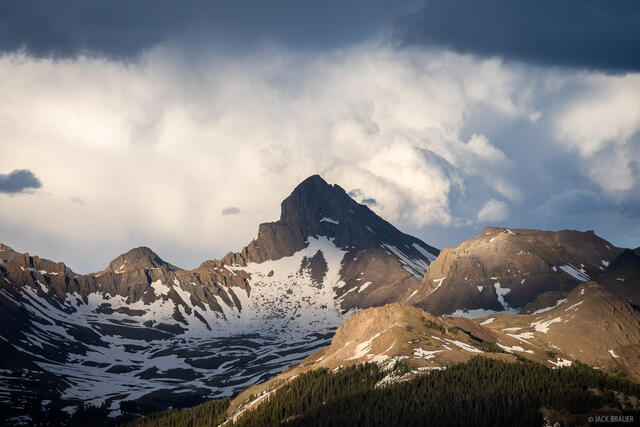 Colorado, San Juan Mountains, Uncompahgre Wilderness, Wetterhorn Peak