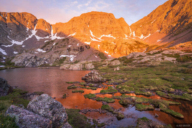 Colorado, Horn Lakes, Sangre de Cristos, sunrise
