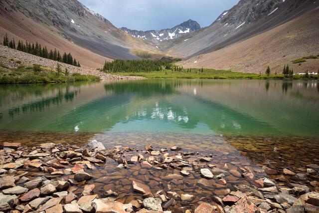 Colorado, Gladstone Peak, Lizard Head Wilderness, Navajo Lake, San Juan Mountains, San Miguel Range